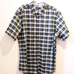 Nautica navy blue plaid button down shirt 3XL